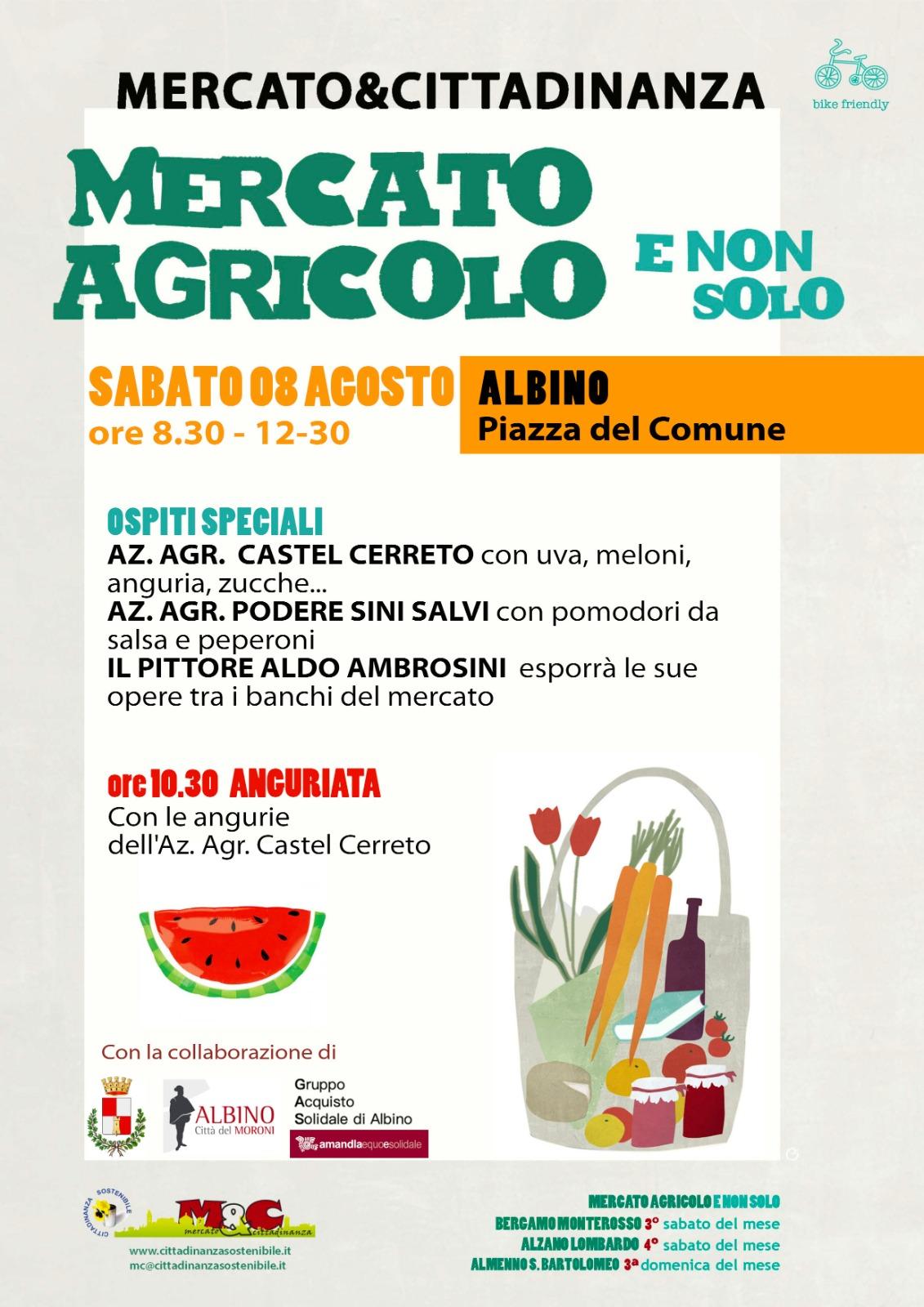Albino 8 agosto 2020 - Mercato Agricolo e Non Solo