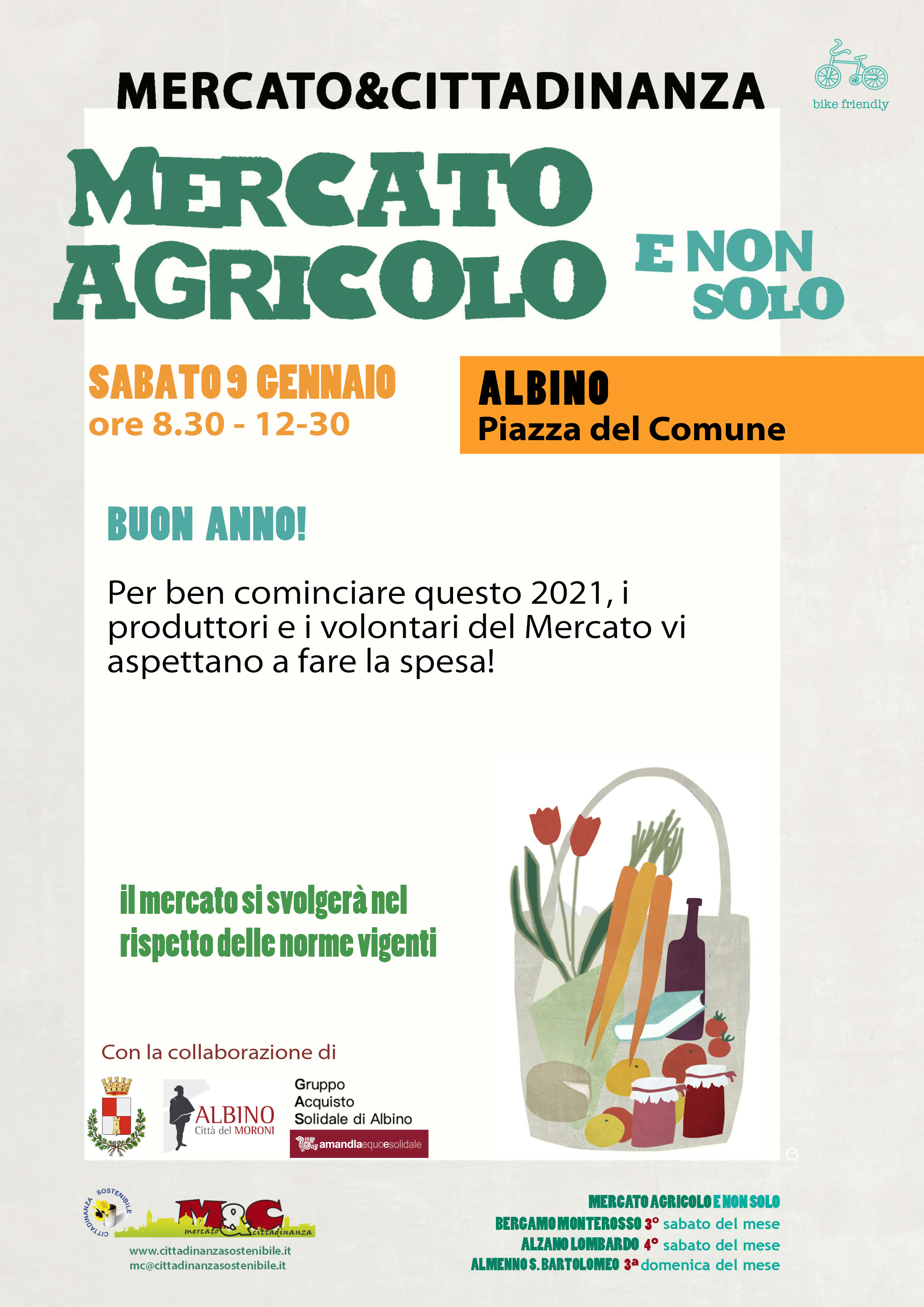 9 gennaio 2021 - Mercato Agricolo e Non Solo
