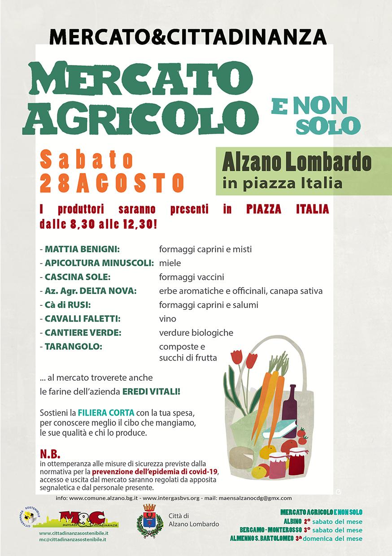 28 agosto 2021 - Mercato agricolo e non solo - MAENS Alzano L.do