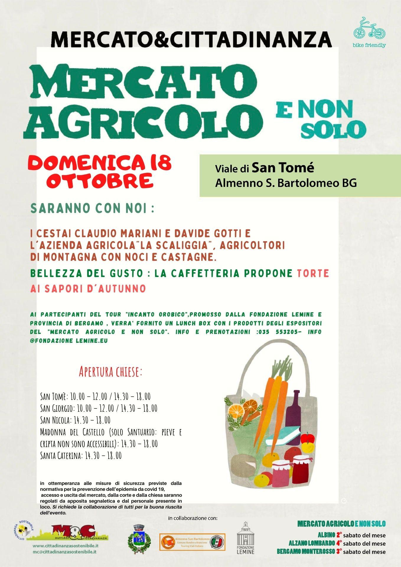 18 ottobre 2020 Mercato Agricolo E Non Solo a San Tomè di Almenno San Bartolomeo