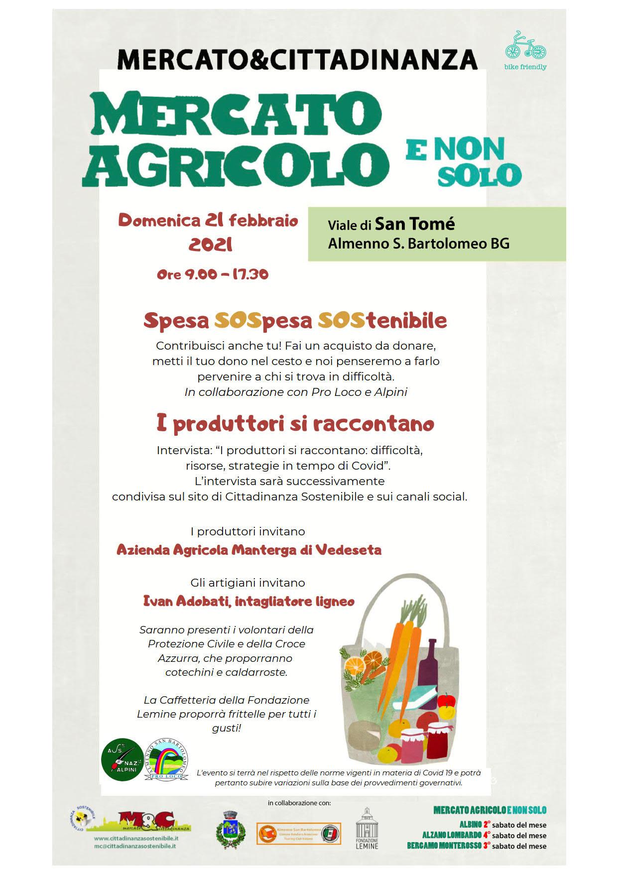 21 febbraio 2021 - Mercato Agricolo E Non Solo a San Tomè di Almenno San Bartolomeo