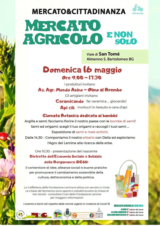 16 maggio 2021 - Mercato Agricolo E Non Solo a San Tomè di Almenno San Bartolomeo