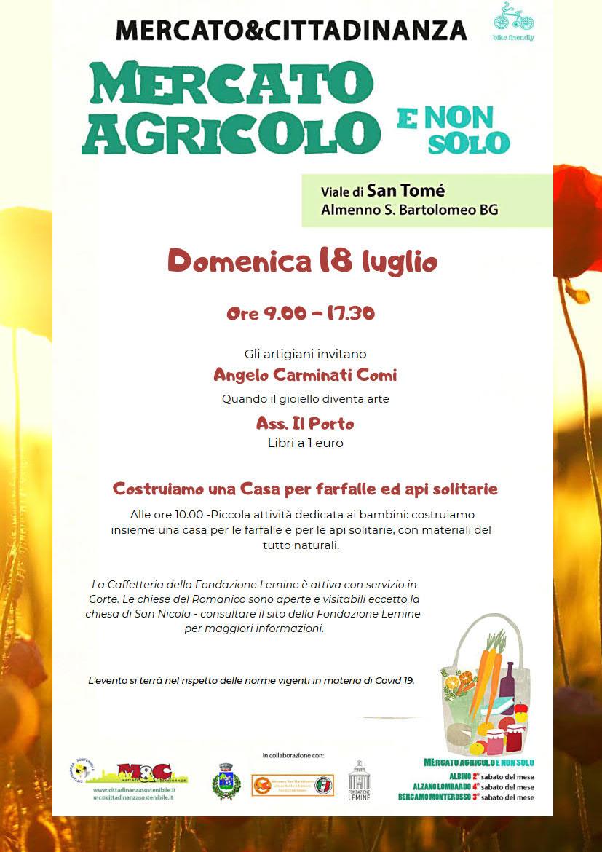 18 luglio 2021 - Mercato Agricolo E Non Solo a San Tomè di Almenno San Bartolomeo