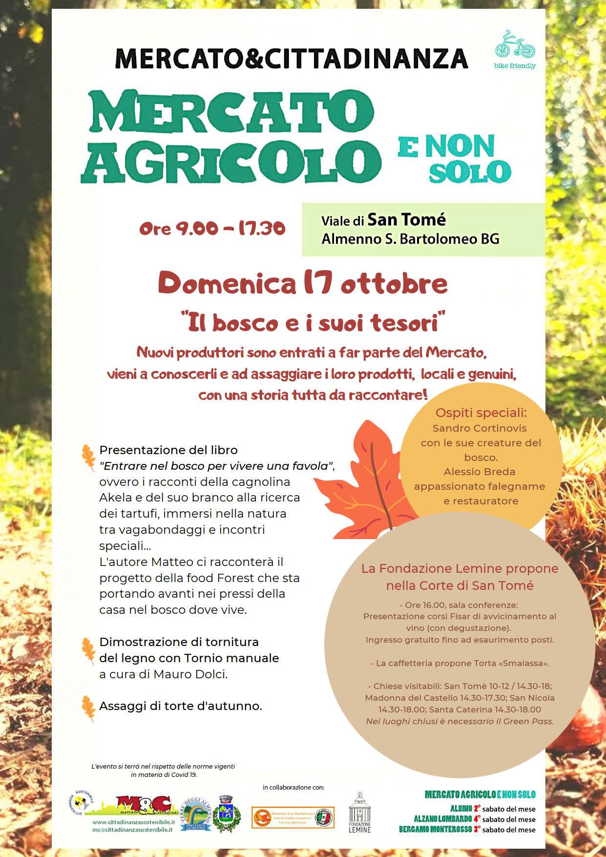 17 ottobre 2021 - Mercato Agricolo E Non Solo a San Tomè di Almenno San Bartolomeo