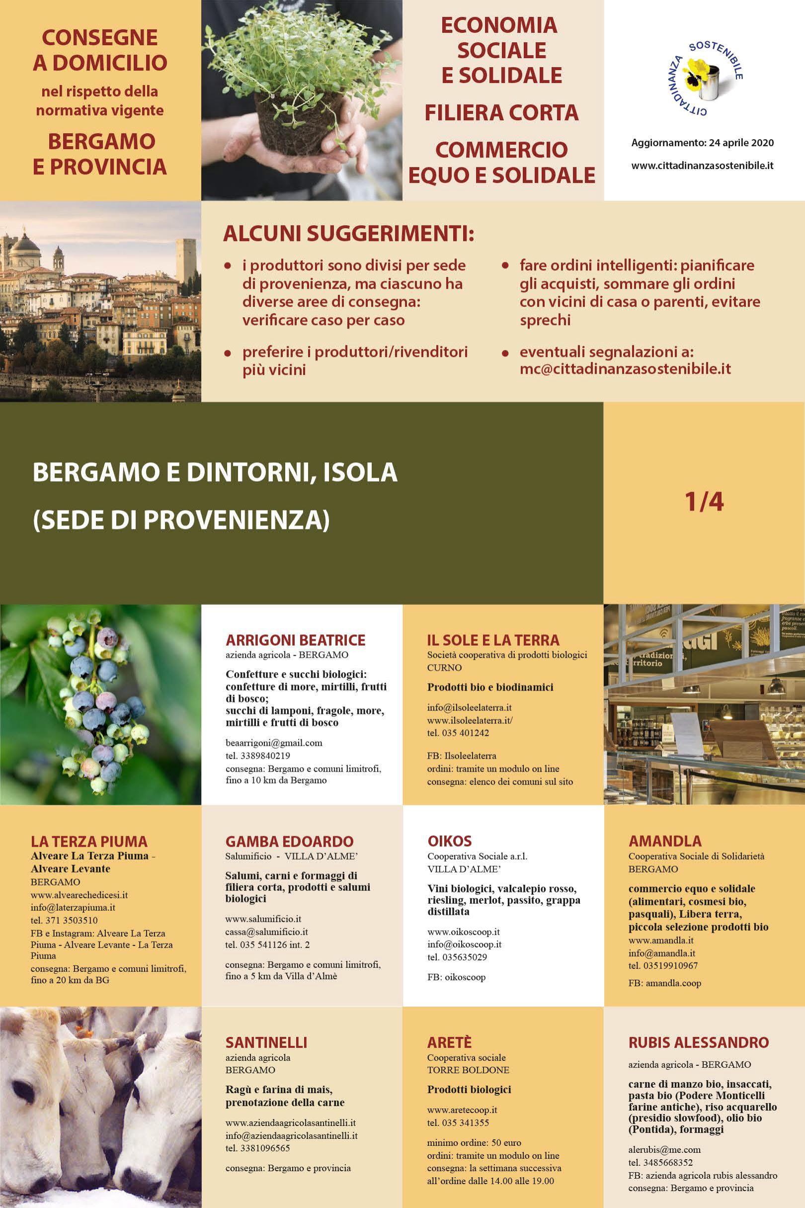 Consegne a domicilio Bergamo e provincia